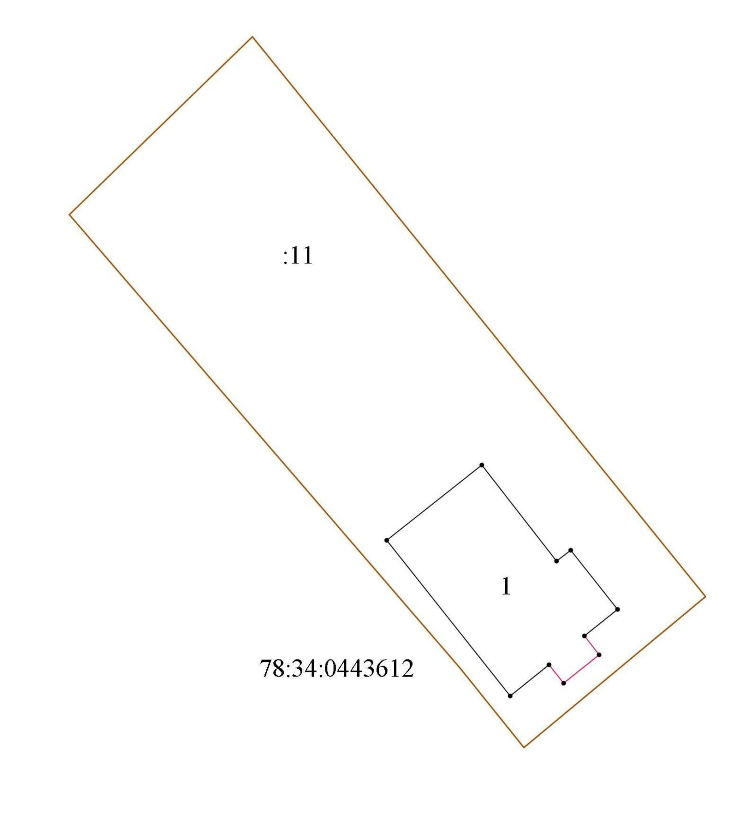 Схема расположения объекта земельном участке