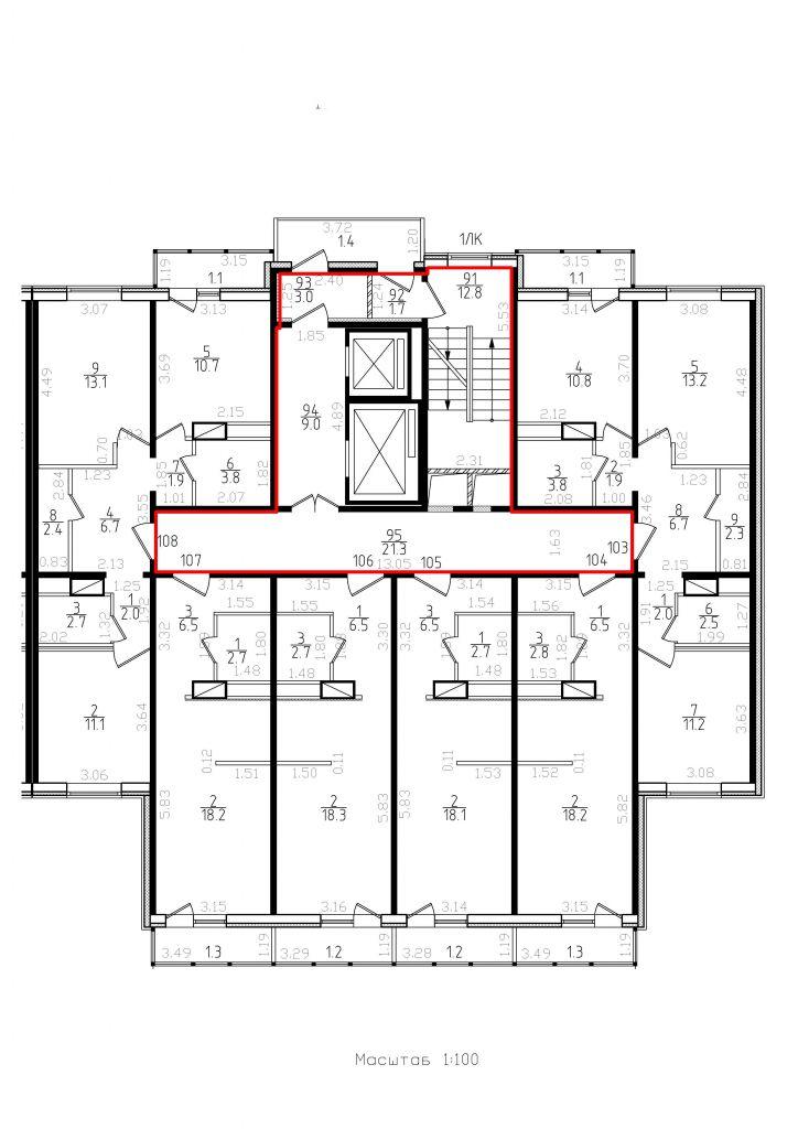 1ЛК(19этаж)