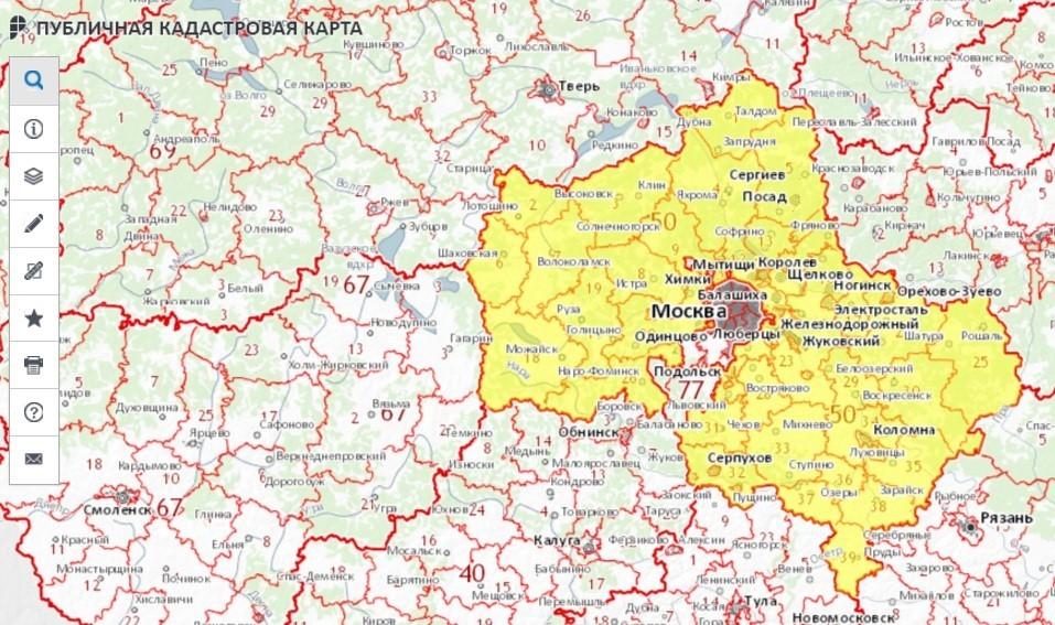 Публичная кадастровая карта тульской области на карте сильно
