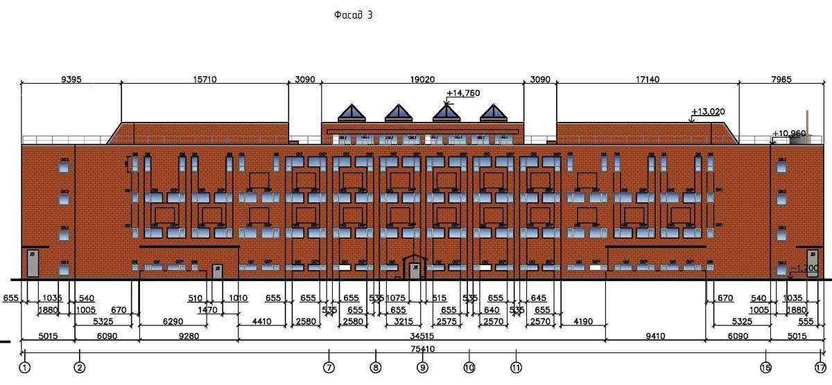 Реконструкция фасадов АР