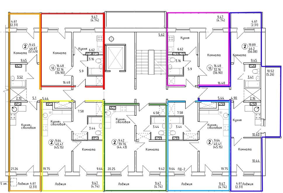 Поэтажные планы здания оформляются после обследований и обмеров, включаются в приложения технического плана.