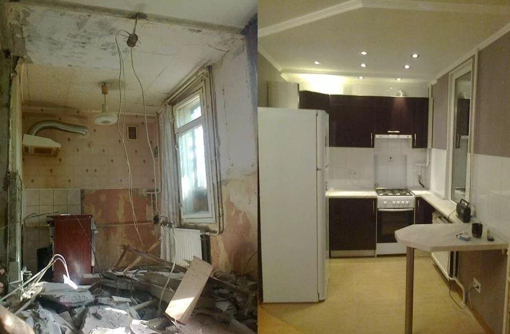 До и после ремонта квартиры