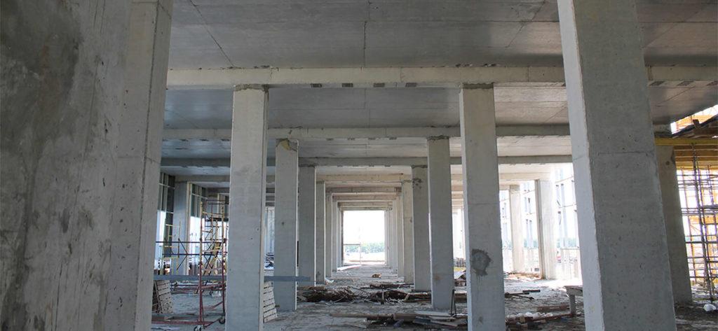 В данном примере были разработаны решения для усиления открытых пролетов здания