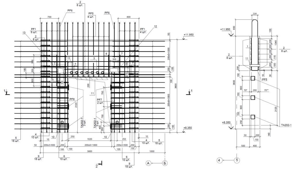 Для всех несущих конструкций разрабатывается комплект чертежей, описание последовательности работ