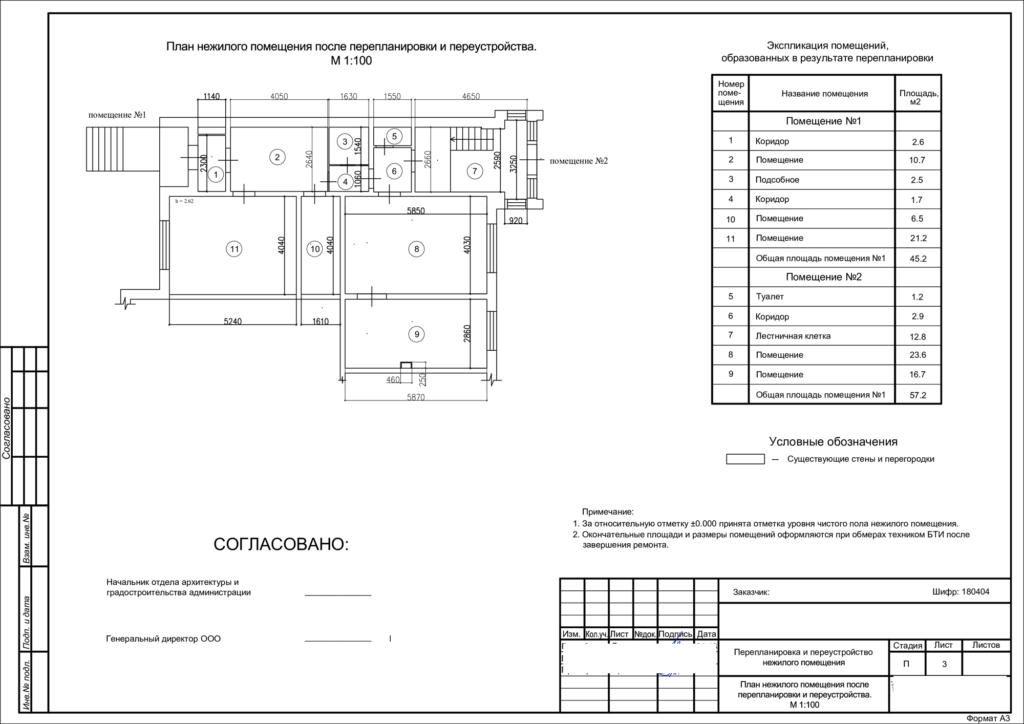 Если проводилась перепланировка нежилого помещения, новые характеристики объекта будут зафиксированы кадастровым инженером в техническом плане.