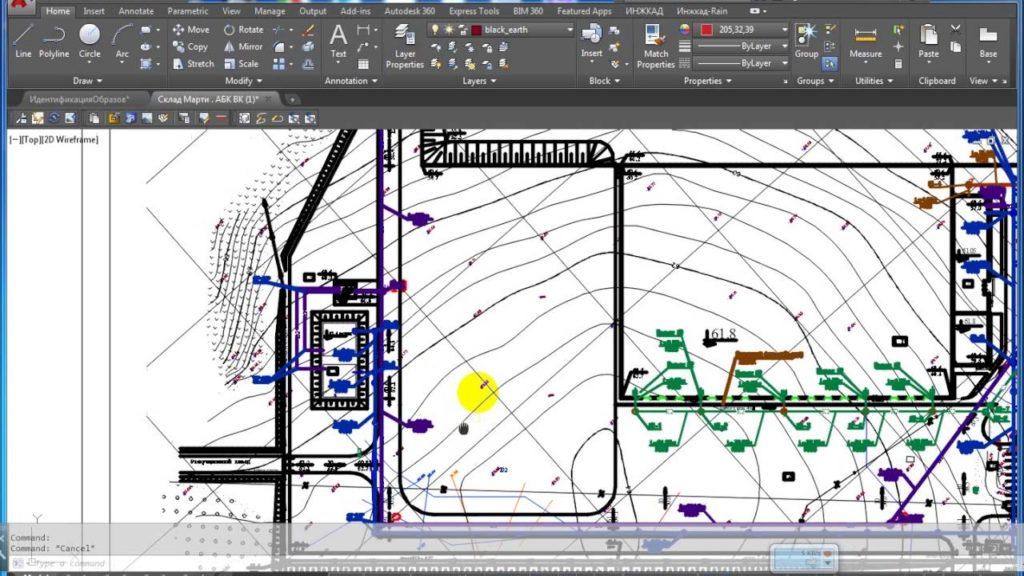 При проектировании составляются схемы расположения сетей на участке