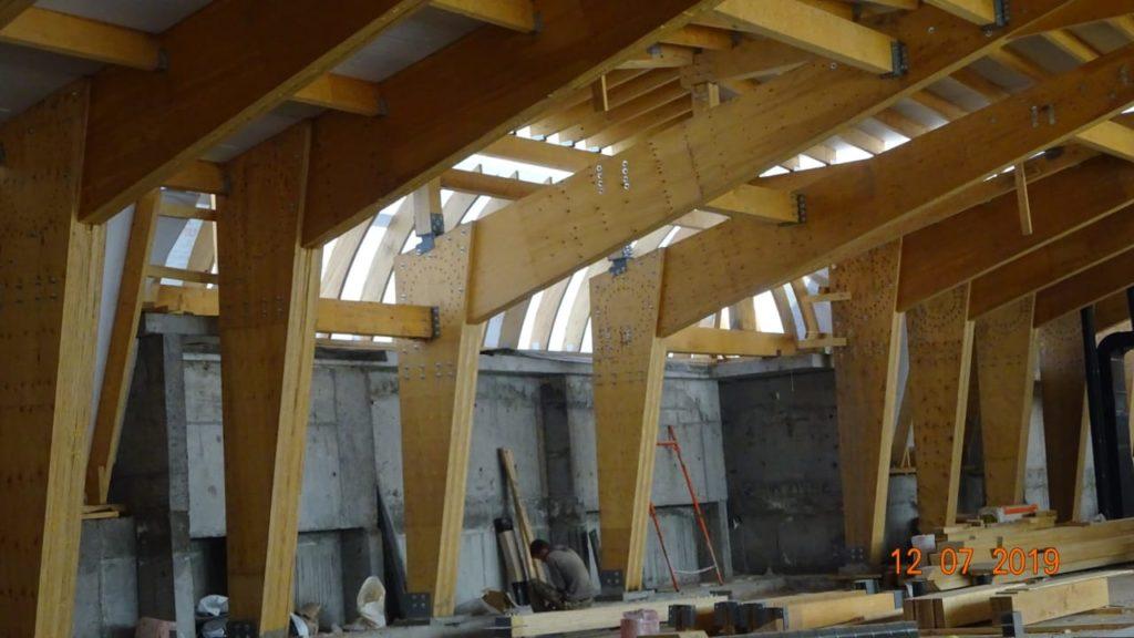 Деревянные конструкции могут быть несущими элементами здания