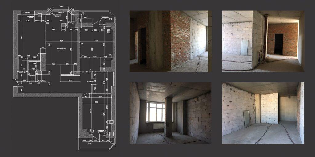 Обмеры сопровождаются съемкой и фотографированием помещений и конструкций. По этим данным можно построить информационную модель объекта.