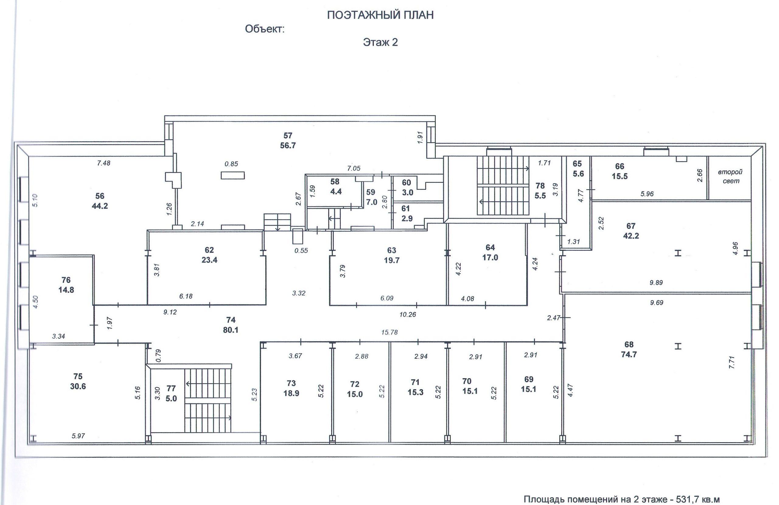 На поэтажном плане после раздела будет отмечено местоположение новых объектов. Поэтажный план включается в содержание технического плана.