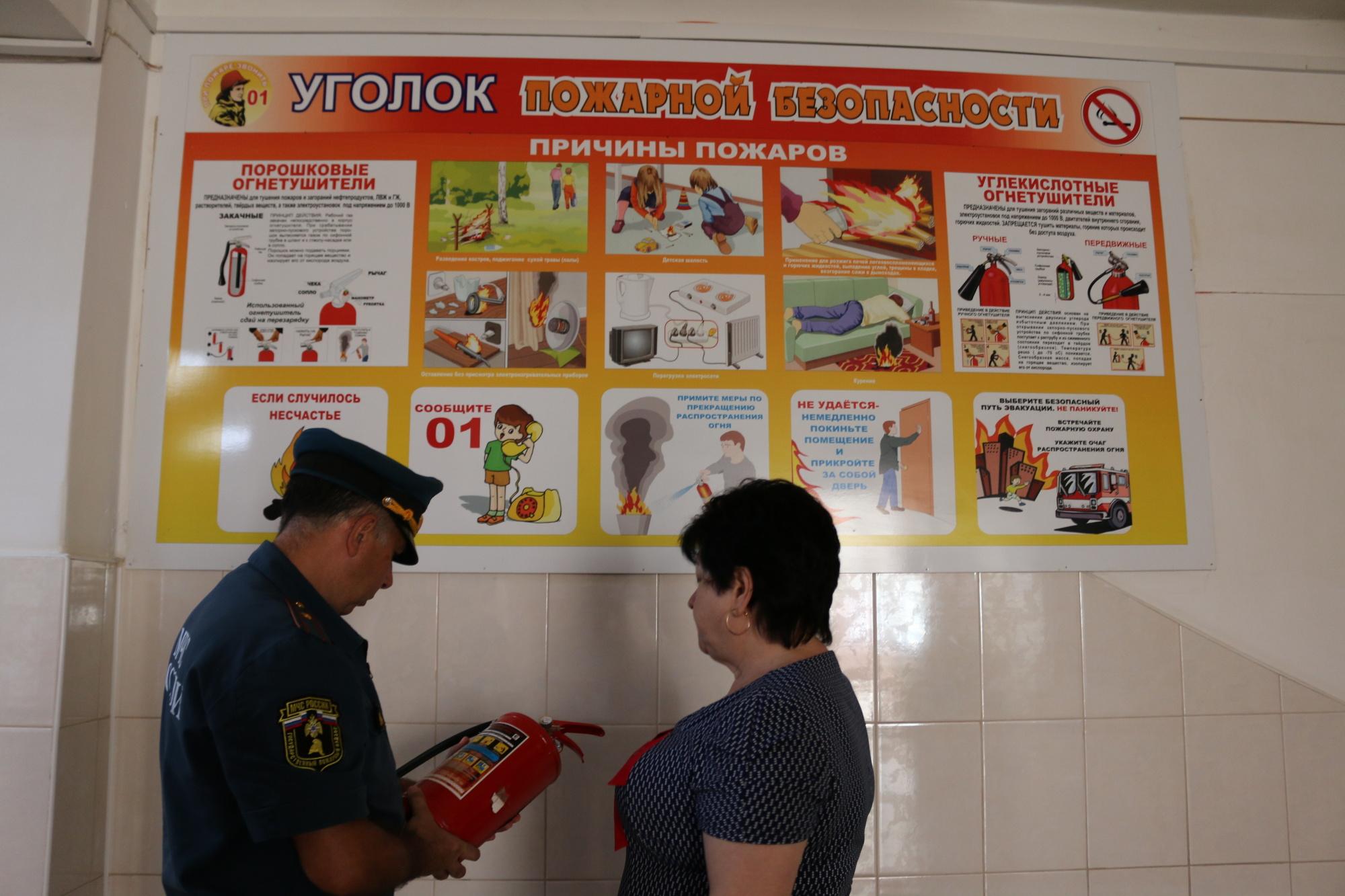 В школах обязательно делаются информационные стенды с плакатами и схемами по пожарной безопасности для детей.