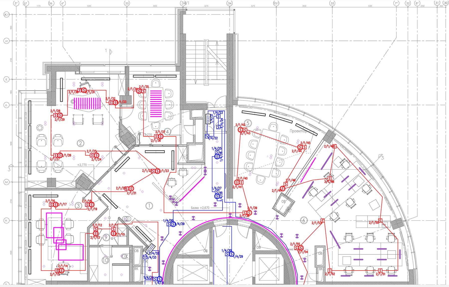 Инженер может подготовить документы на отдельную систему защиты или раздел на все меры пожарной безопасности для нового здания.