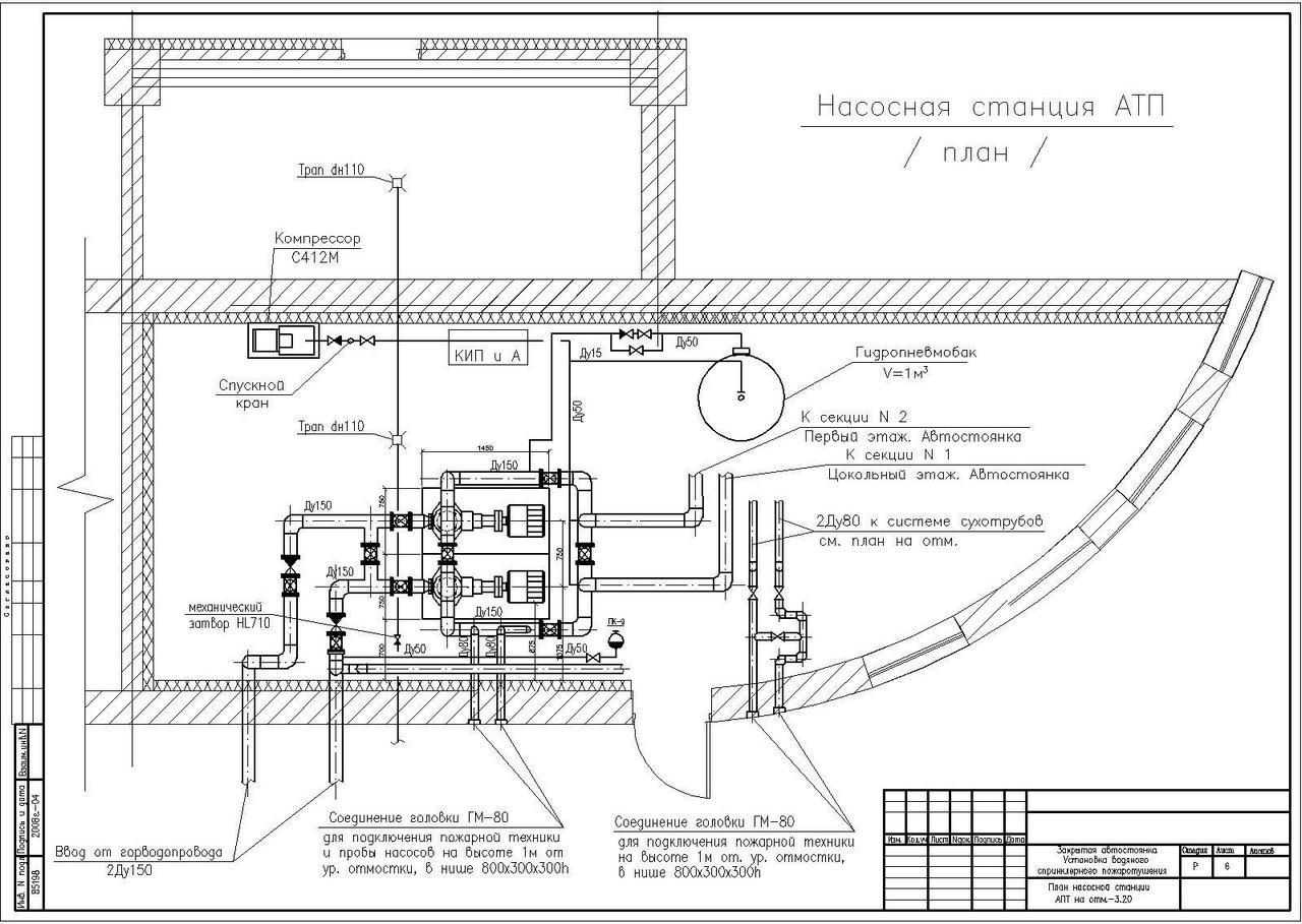 Схемы и чертежи проекта будут применяться подрядчиком при прокладке трубопроводов, присоединении системы к водоснабжающим коммуникациям.