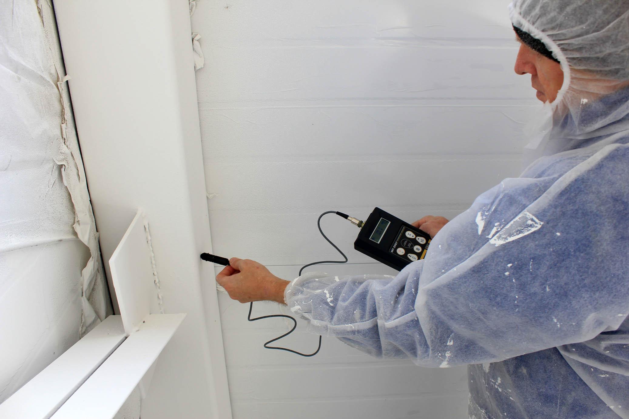 В ходе обследований может проверяться состояние огнезащитной обработки, если это требуется для конструкций объекта.