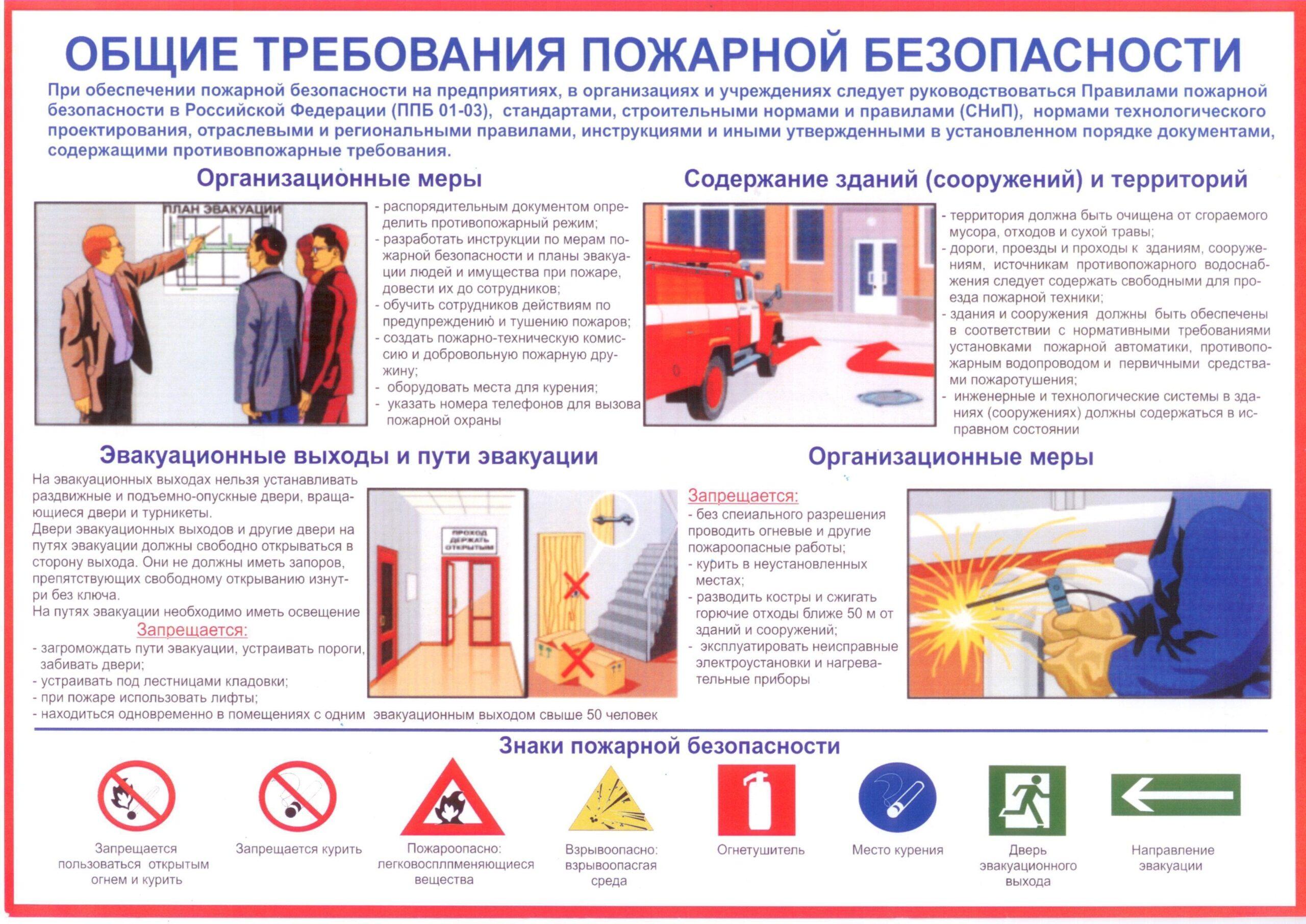 Правила противопожарного режима распространяются на все виды объектов. Но точные нормы нужно определять индивидуально под каждый объект.